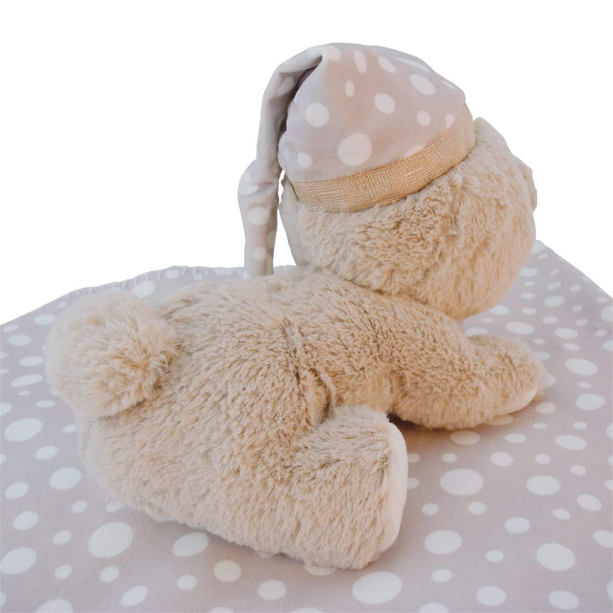 Juego de manta y oso de peluche para beb/é Bieco 38002075 Peti manta y oso de peluche, a partir de 0 meses color beige