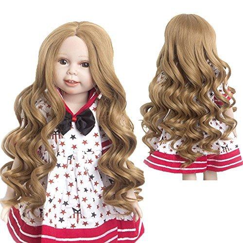 MUZI WIG Doll Wigs Simulation Scalp Heat Resistant Hair for 18'' American Dolls (#26)