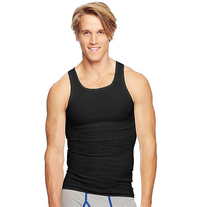 73dcdf0f05b8a3 Hanes Classics Men s TAGLESS® ComfortSoft® Dyed A-Shirt 4-Pack at ...