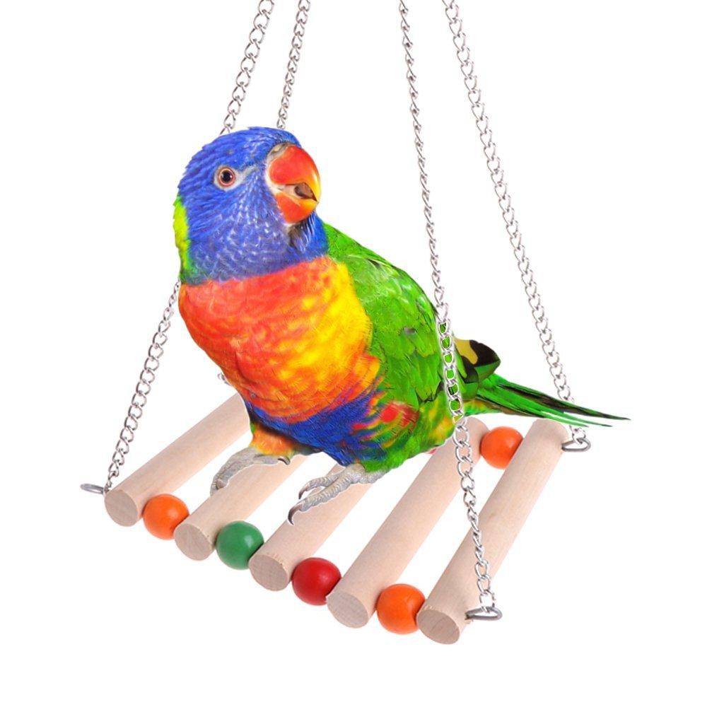 Cold Toy Mascotas de pájaro de Loros de periquitos Budgie Diseño de Aves de Jaula de hamacas de balanceo de Juguete de Juguete suspendido