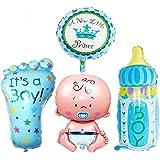 JJOnlineStore - 4x, Baby Boy Helium Balloons, Baby Shower Balloons Decoration, Christening Decoration Balloons