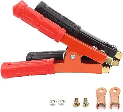 Zhiting 2st Krokodilklemmen 800a Kupfer Batterie Klemmen Mit Isolierte Stiefel Kunststoff Griff Battery Clips Für Auto Fahrzeug Ladekabel Auto
