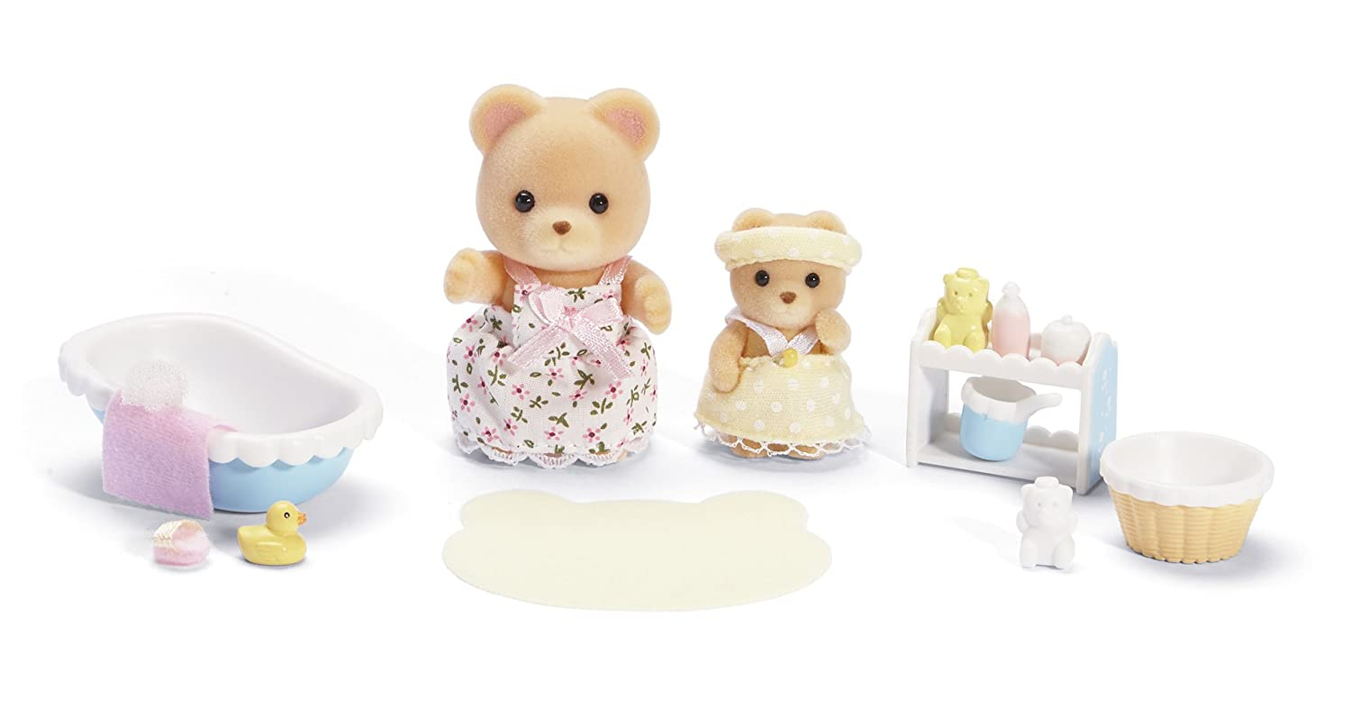 amazon com calico critters melissa and melody bath time set toys