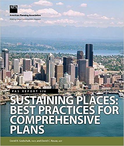 Sustaining Places: Best Practices for Comprehensive Plans (Pas Report)