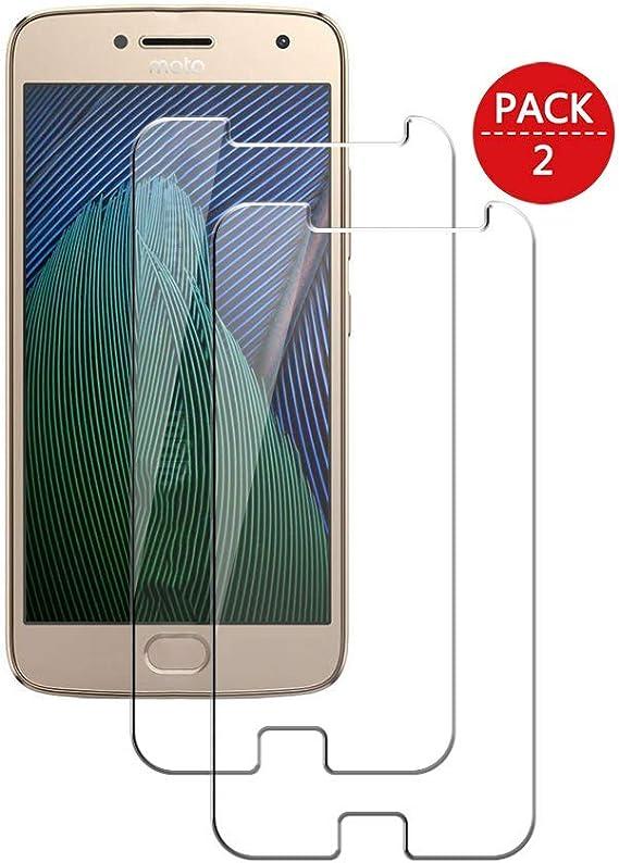 MaxQual, Compatible con Cristal Templado Motorola Moto G5 Plus, Protector de Pantalla,Cristal Vidrio Templado Premium para Motorola Moto G5 Plus, 2 Unidades: Amazon.es: Electrónica