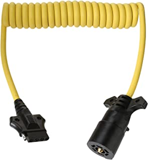 61zwVNZ2BzL._AC_UL320_SR296320_ amazon com conntek 7 way to 4 5 flat boat trailer coiled cord (4 Standard Trailer Wiring at reclaimingppi.co
