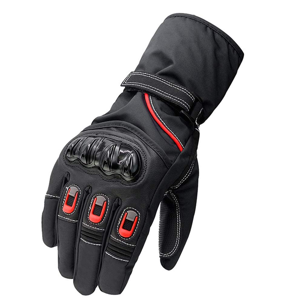 ERLIANG Herren Motorradhandschuhe - Warmer wasserdichter Film-Touchscreen und verstellbare Manschetten,L