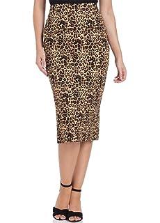 VOODOO VIXEN Izzy Leopard Print Retro Wiggle Skirt