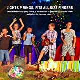 Light Up Rings for Kids Birthday Party Favors LED