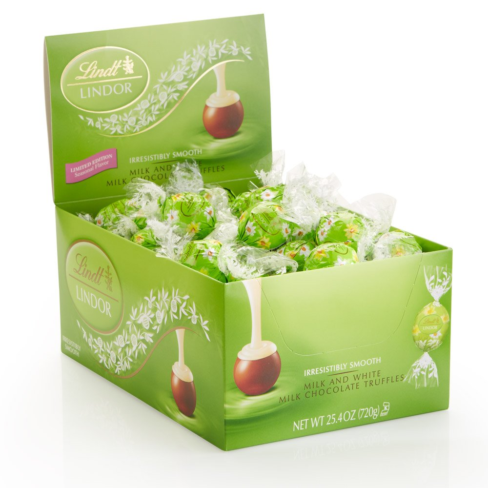 Lindt LINDOR Easter Spring Flower Milk & White Chocolate Truffles, Kosher, 60 Count Box by Lindt