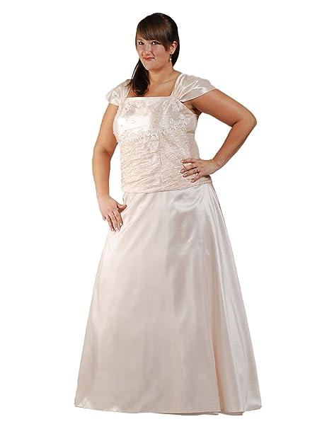 Austen - Vestido de novia - trapecio - Básico - Manga corta - Mujer crema 52