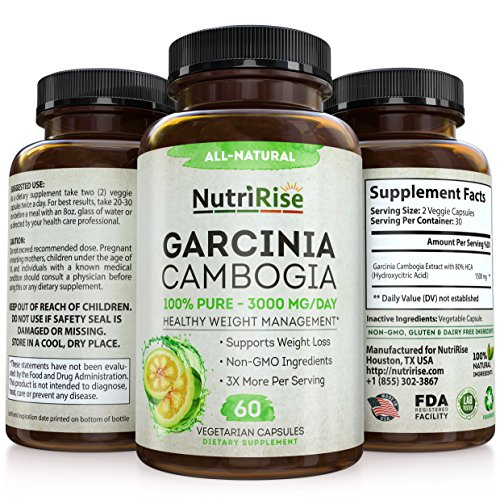 100% Pure Garcinia Cambogia Extract With HCA For Fast Fat Burn. Best Appetite Suppressant & Carb Blocker. Natural, Clinically Proven Weight Loss Supplement. Best Garcinia Cambogia Raw Diet Pills.