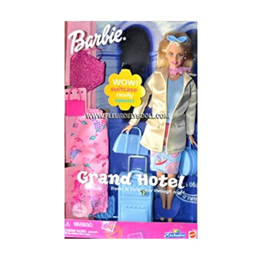Barbie Grand Hotel Doll With Suitcase Amazon De Spielzeug