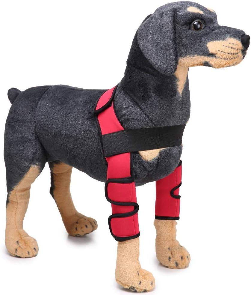 Soporte para la pierna del perro Protector del codo Curación de heridas, soporte para urdimbre de la pata delantera de la mascota Equipo de protección al aire libre para evitar lesiones y esguinces,M