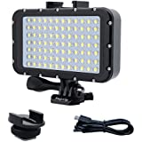 Suptig Underwater Lights Dive Light 84 LED High Power Dimmable Waterproof LED Video Light Waterproof 164ft(50m) for…