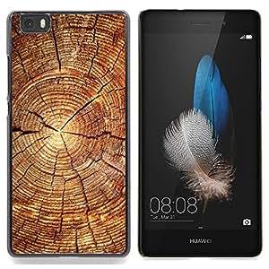 SKCASE Center / Funda Carcasa protectora - Bloque de madera del patrón;;;;;;;; - Huawei Ascend P8 Lite (Not for Normal P8)