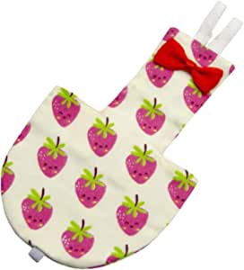 F Fityle Strawberry Pattern Parrots Diapers Birds Flight Suits Nappy, Pet Goose Chicken Duck Poultry Adjustable Cloth Diaper Farm - XS