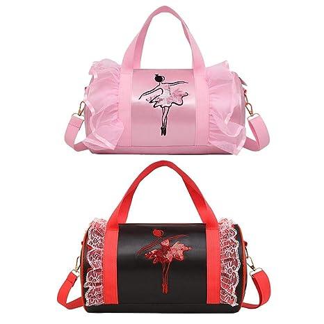 iStary Bolso pequeño de la danza de la niña, bolso de ballet rosado de la
