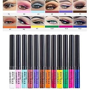 Symeas 12 couleurs eyeliner liquide mat imperméable à l'eau haute pigments colorés stylo liner