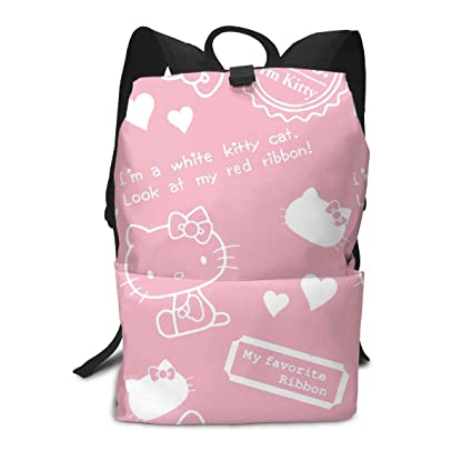42e1a59905f1 Amazon.com: Adult Travel Laptop Backpack - Hello Kitty Background ...