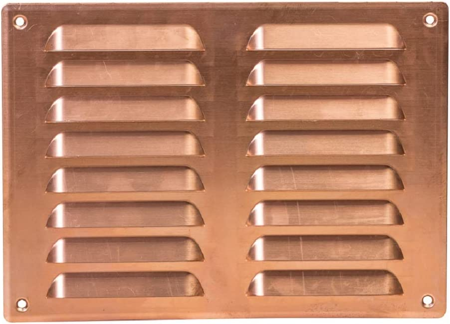 260 x 190 mm Copper Ventilation Grille Insect Protection Exhaust Air Supply Metal Grille
