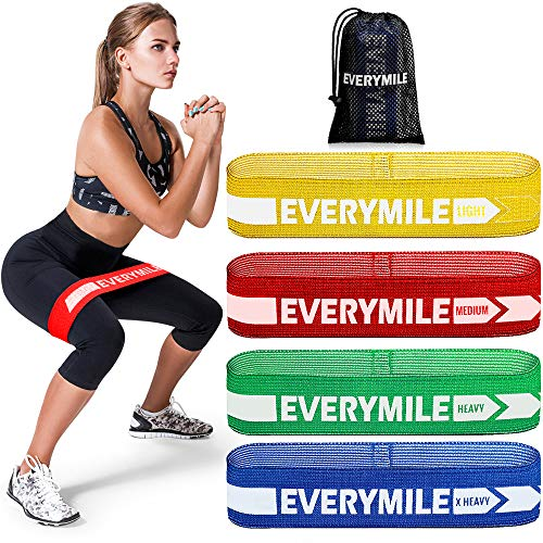 Exercise Bands and Workout Bands for Home Working Out Fitness OlarHike Resistance Bands Set for Booty and Glutes Pack of 5 Bands Yoga