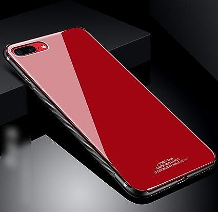 Custodia Iphone 7 Silicone Trasparente Rosso Cover Iphone 7