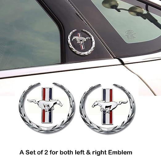 2pcs Silver Color Chrome Emblem Badge Decal Sticker Fit For Jeep Car Model