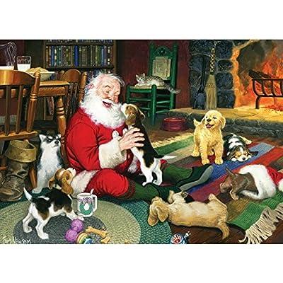 Cobblehill 80125 1000 Pc Di Babbo Natale Puzzle Da Gioco Varie