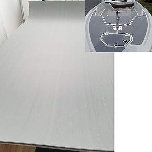 "yuanjiasheng Eva Boat Decking Yacht Synthetic Teak Decking Marine Flooring Sheet Water-Proof 94.5""×35.4"" Grey"