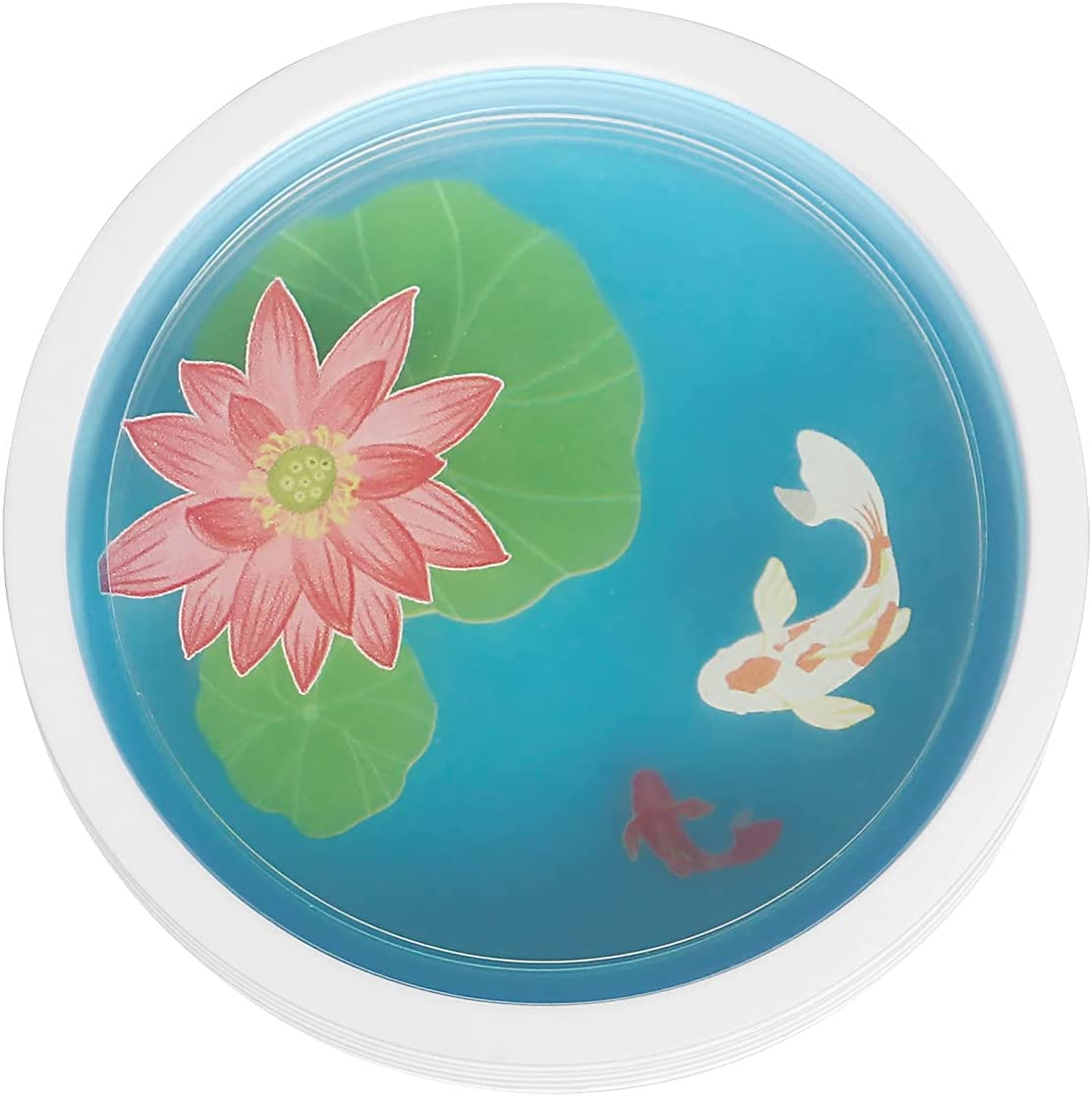 Coasters for Drinks, Set of 5 Funny Coaster for Home Decor, Silicone Coasters for Wooden Coffee Tables, Great Gift for Parents and Children (Lotus)