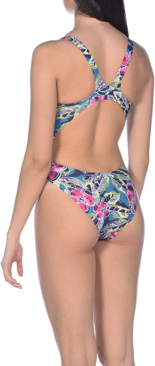 Costume Intero Donna ARENA Damen Sport Badeanzug Tropical Sketch
