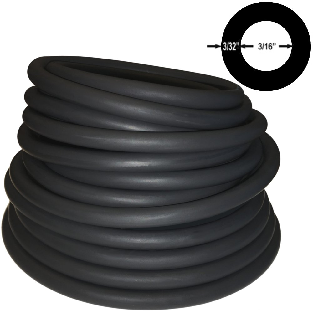 Spearit 3//8in OD 3//16in ID Polespear Band//Sling Thick Walled Latex Rubber Tubing ONE Continuous Piece #606