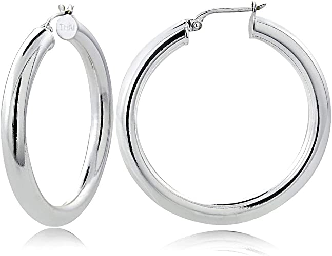 Brand New Genuine Elegant Sterling Silver Earrings 925Jewellery Round Stone
