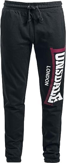 Lonsdale London - Pantalón Deportivo - para Hombre Negro L ...