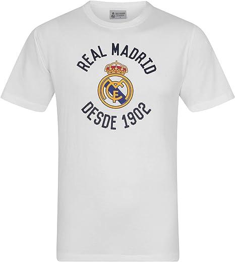 Real Madrid - Camiseta Oficial para Hombre - Serigrafiada: Amazon ...