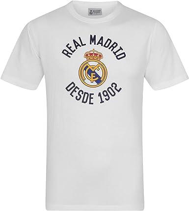 Real Madrid - Camiseta Oficial para Hombre - Serigrafiada - Blanco ...