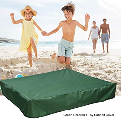 FOONEE Sandbox Cover, Square Dustproof Protection Sandbox Canopy with Drawstring, Waterproof Sandpit Pool Cover, Avoid The Sand and Toys Contamination, Green,47.24 X 47.24in: Home Improvement