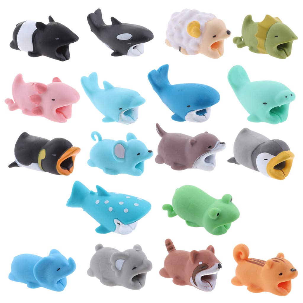 Baosity 18Pcs Animal Cable Winder Organizer Protector, USB Cable Earphones Protector Charger Saver Sleeve Protective Cover Case for Android iPhone Protector