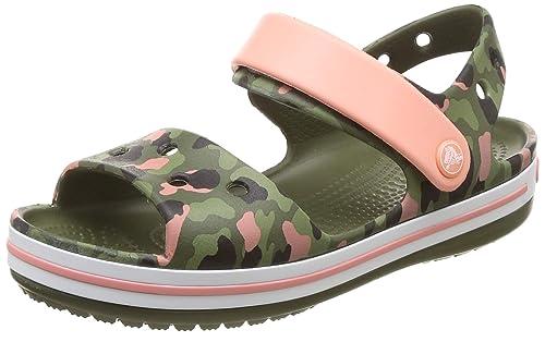 9231cee1d69c crocs Unisex Kid s Crocband SeasonalGraphic Sdl K Orange Sandals-C10  (205765-737-
