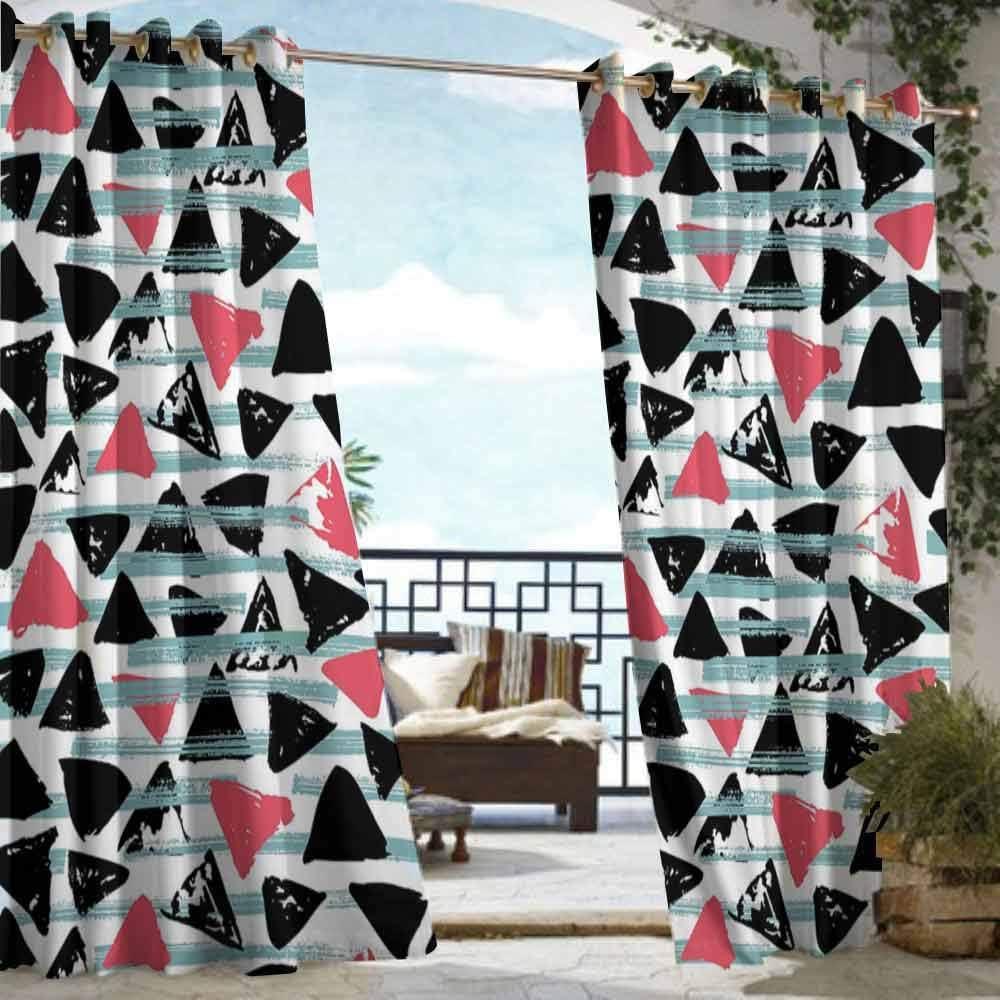 DILITECK - Cortina de pérgola geométrica Abstracta Estilo Rompecabezas Trippy Fractal, Creativa superpuesta con Formas de Color para Patio/Porche Frontal: Amazon.es: Jardín