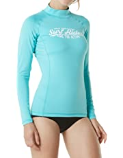 TESLA Women's UPF 50+Swim Shirt Rashguard Long/Short Sleeve FSS FSR Series