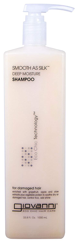 GIOVANNI COSMETICS- Eco Chic Smooth As Silk Shampoo- Deep Moisture For Damaged Hair (33.8 Fl. Ounce)