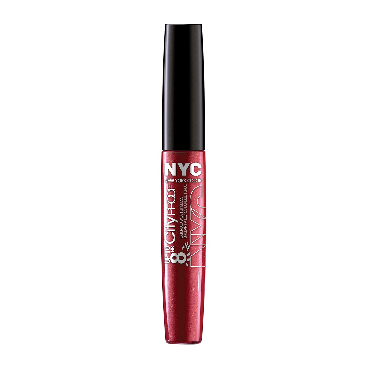 N.Y.C. New York Color 8 HR City Proof Extended Wear Lip Gloss, Cherry Ever After, 0.22 Fluid Ounce