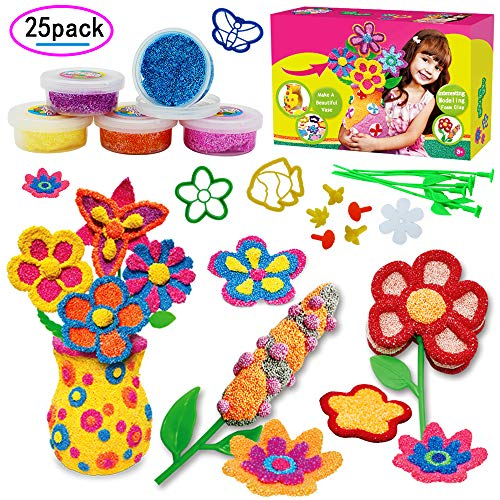 SPIEL Fun Modeling Foam Playfoam Combo Party Pack DIY Vase Foam Beads Play Kit Educational Clay for Arts and Crafts - Perfect for Creative Play, Age 3+ by SPIEL