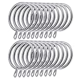 Shappy 20 Pack Metal Curtain Rings Hanging Rings for Curtains and Rods, 30 mm Internal Diameter (Silver)