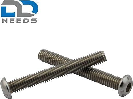 D2D PU: 10 pi/èces Vis /à t/ête plate M4 x 20 mm avec six pans creux ISO 7380-1 en acier inoxydable A2 V2A vis /à t/ête cylindrique