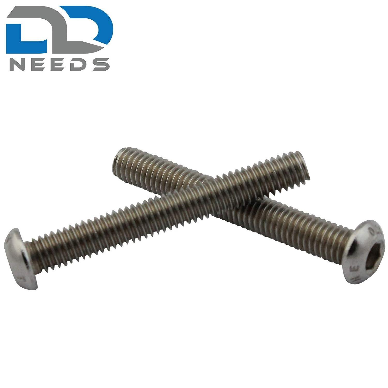 D2D Vis /à t/ête plate M6 x 25 mm avec six pans creux ISO 7380-1 en acier inoxydable A2 V2A PU: 10 pi/èces vis /à t/ête cylindrique