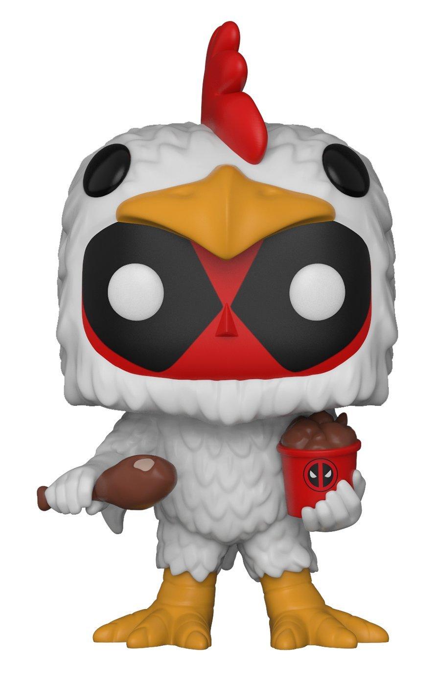 Funko Pop! Marvel Deadpool vestido de pollo comiendo pollo