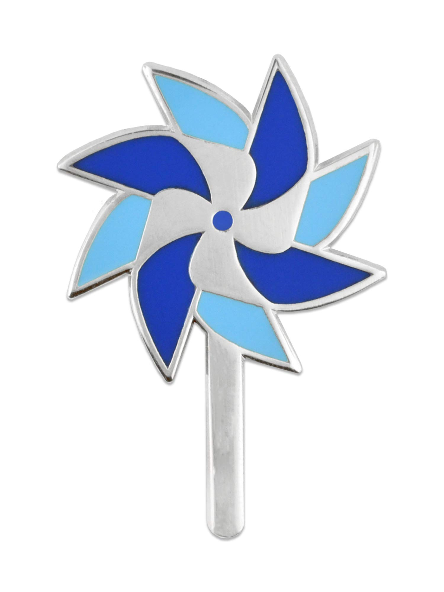 PinMart Child Abuse Awareness Blue Pinwheel Enamel Lapel Pin